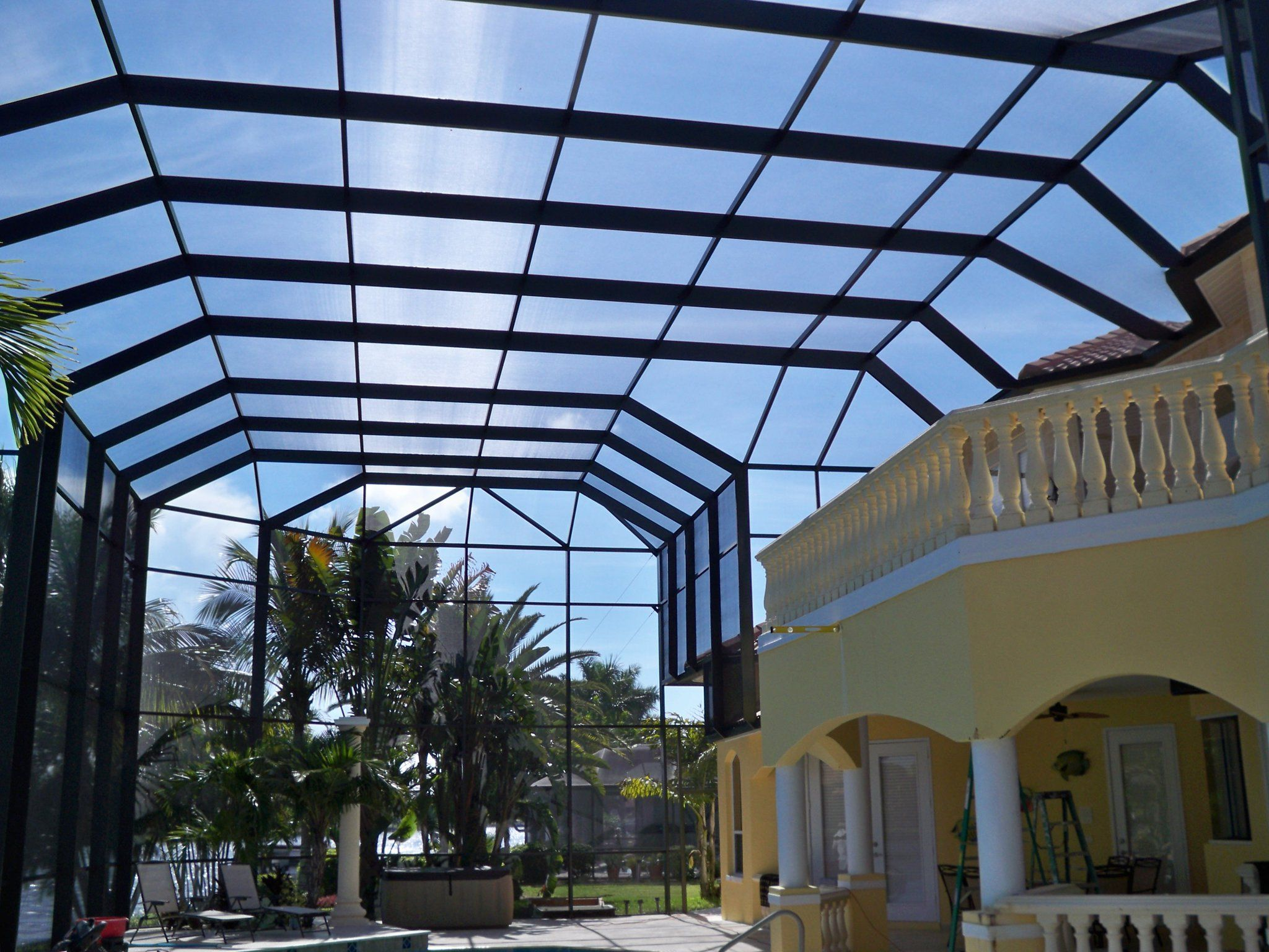 Commercial Screen Enclosures-Boca Raton Pool Screen Enclosure Installation and Patio Screen Repairs Services-We do screen enclosures, patios, pool screens, fences, aluminum roofs, professional screen building, Pool Screen Enclosures, Patio Screen Enclosures, Fences & Gates, Storm Shutters, Decks, Balconies & Railings, Installation, Repairs, and more