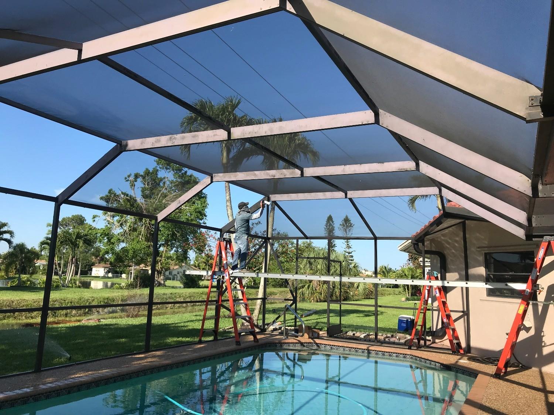 Repair Screen Enclosures-Boca Raton Pool Screen Enclosure Installation and Patio Screen Repairs Services-We do screen enclosures, patios,poolscreens, fences, aluminum roofs, professional screen building, Pool Screen Enclosures, Patio Screen Enclosures, Fences & Gates, Storm Shutters, Decks, Balconies & Railings, Installation, Repairs, and more